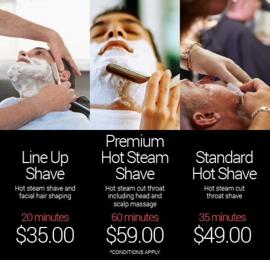 Mens Hot Steam Shave
