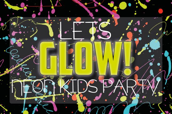 Lets Glow! Neon Funky Chicks Kids Party