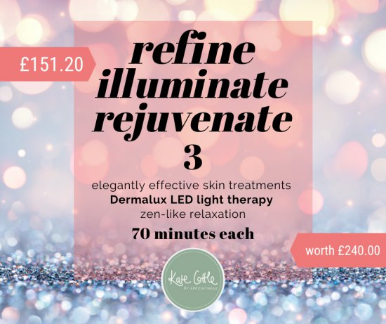 REFINE, ILLUMINATE & REJUVENATE - 3 elegantly effective skin treatments